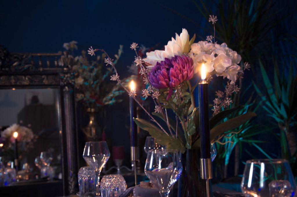 décoration table de fête vintage