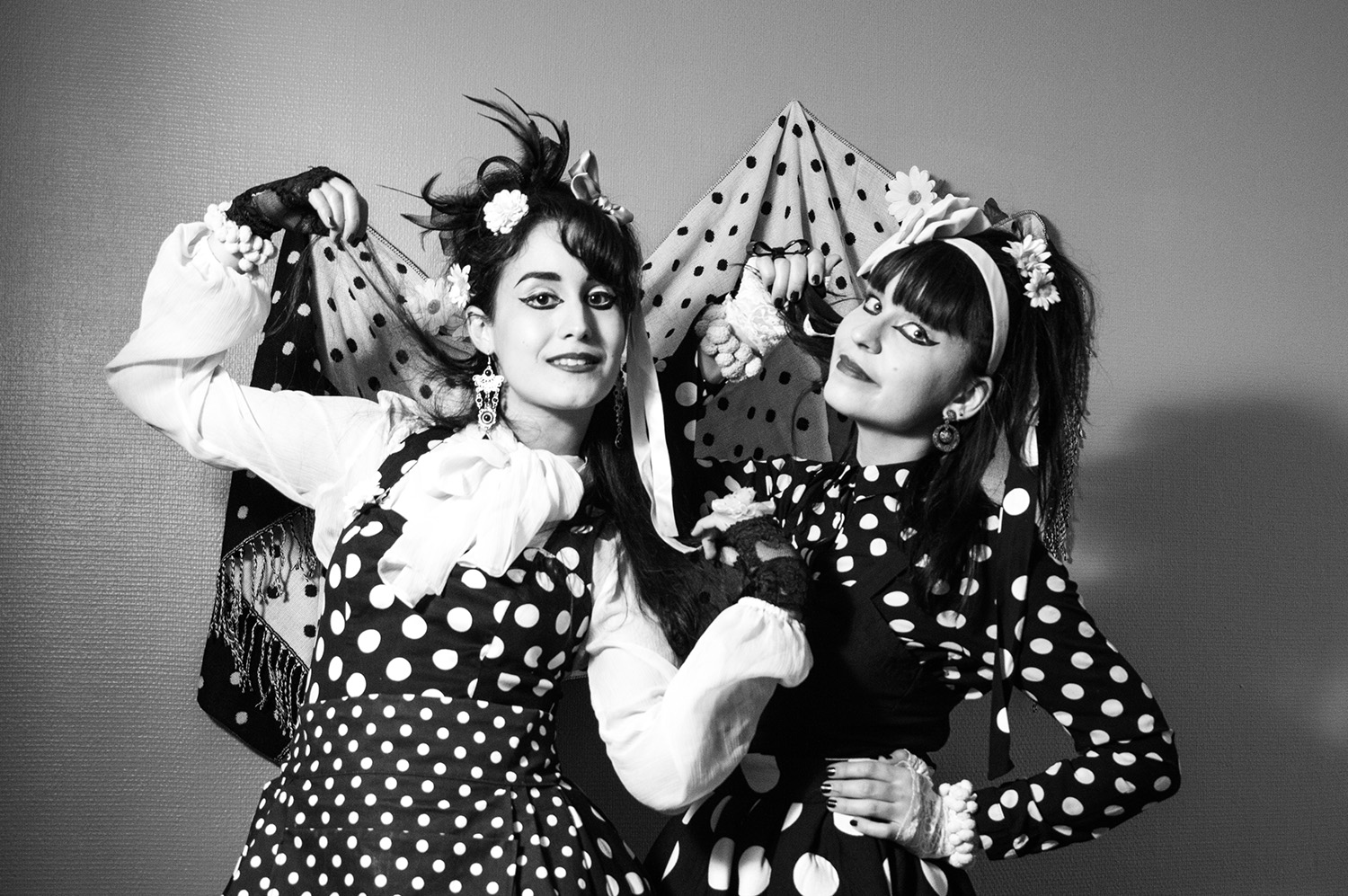 Strawberry Switchblade fashion black and white polka dots