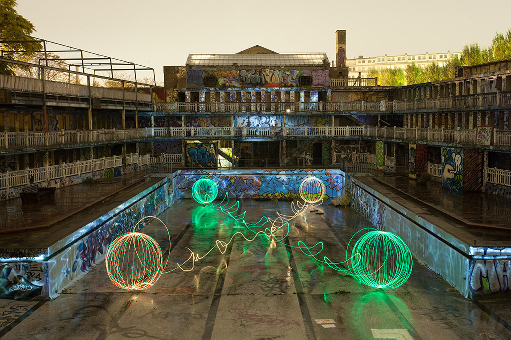 jadikan lightpainting piscine