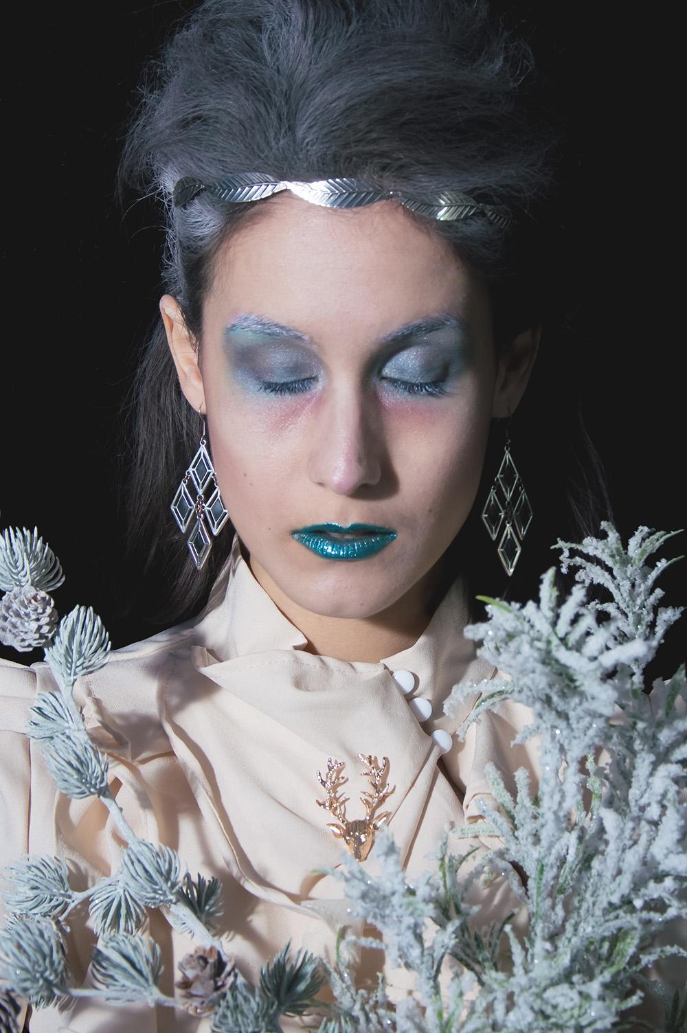 maquillage reine des glaces neige makeup