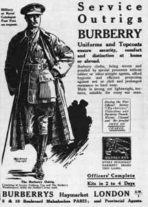 Burberry trench coat world war 1
