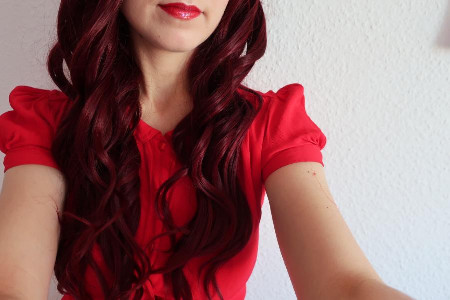 maquillage rouge St-Valentin
